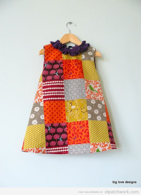 Vestidos patchwork bebés 10