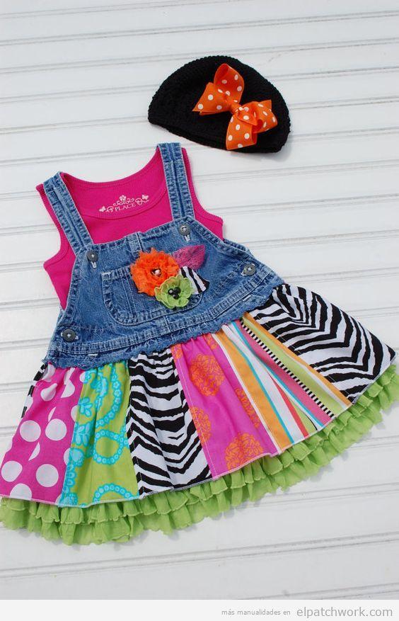 Vestidos patchwork bebés 9