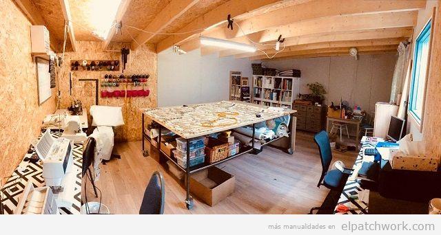 Taller costura piso vinílico