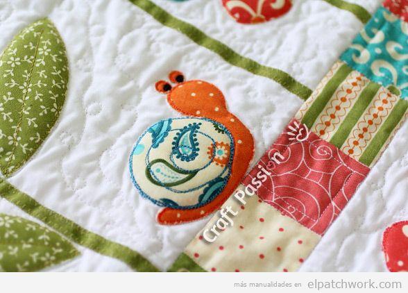 Aplique patchwork caracol
