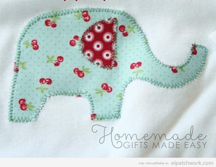 Aplique patchwork elefante