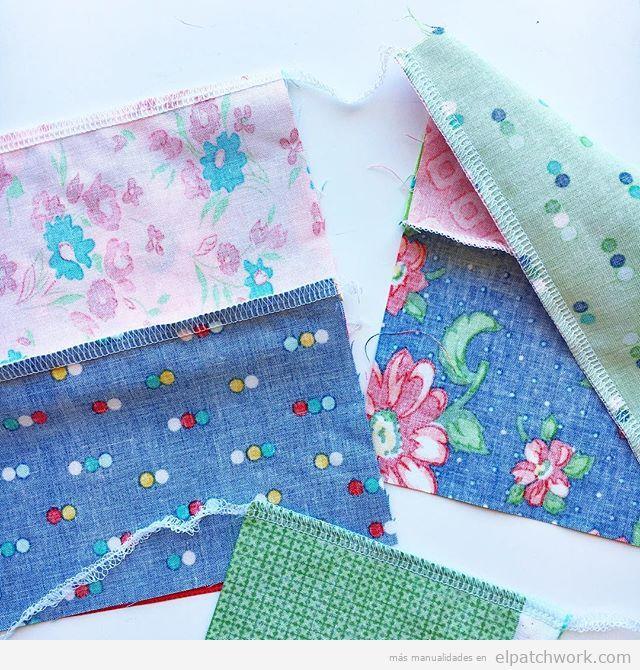 Tipo costura remalladora patchwork, unir dos piezas