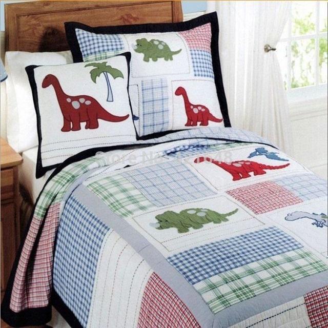 Funda nórdico patchwork infantil dinosaurios