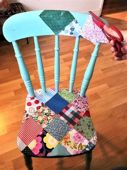 Silla de patchwork DIY